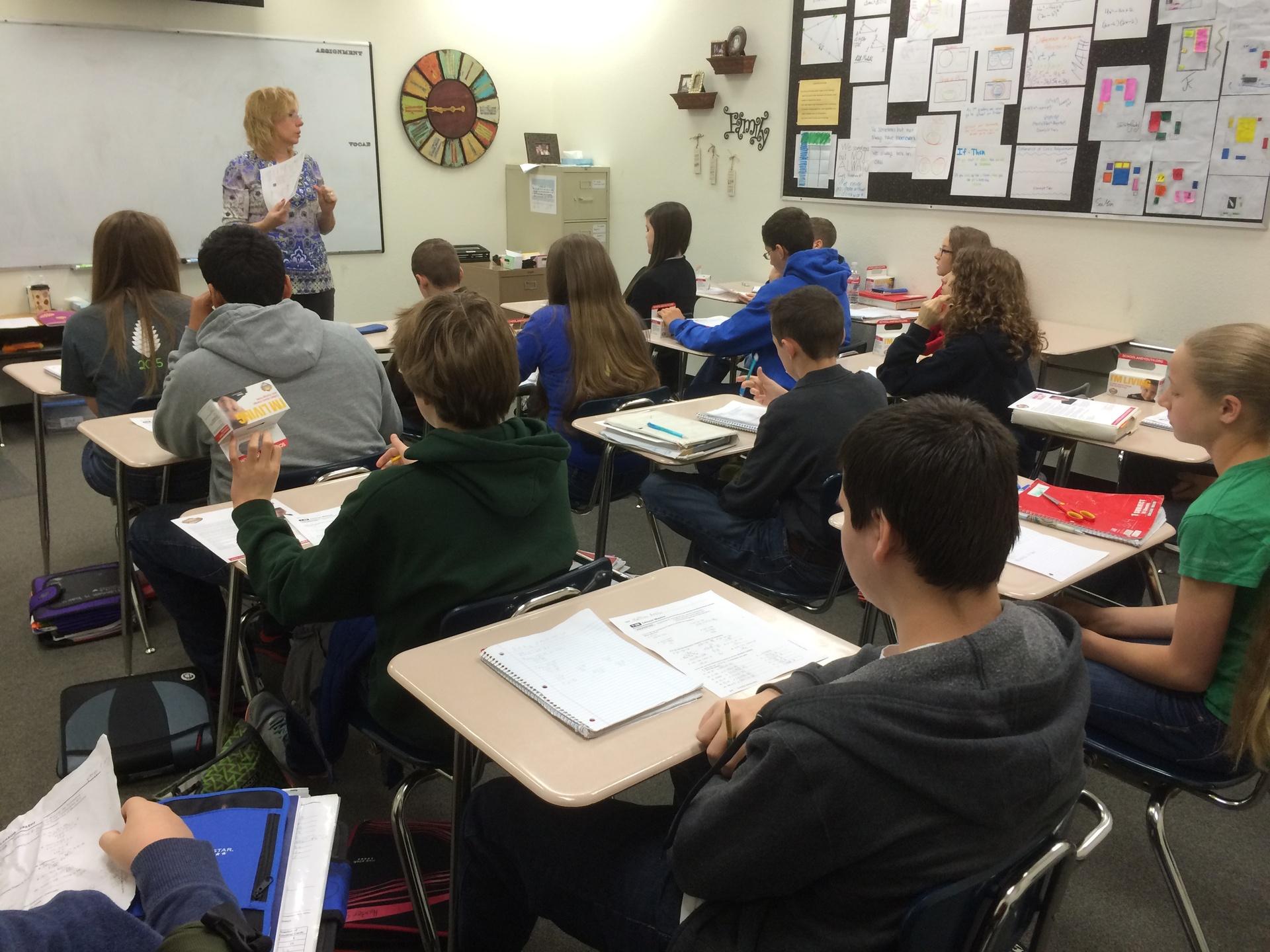 7th Grade Pre-Algebra Class