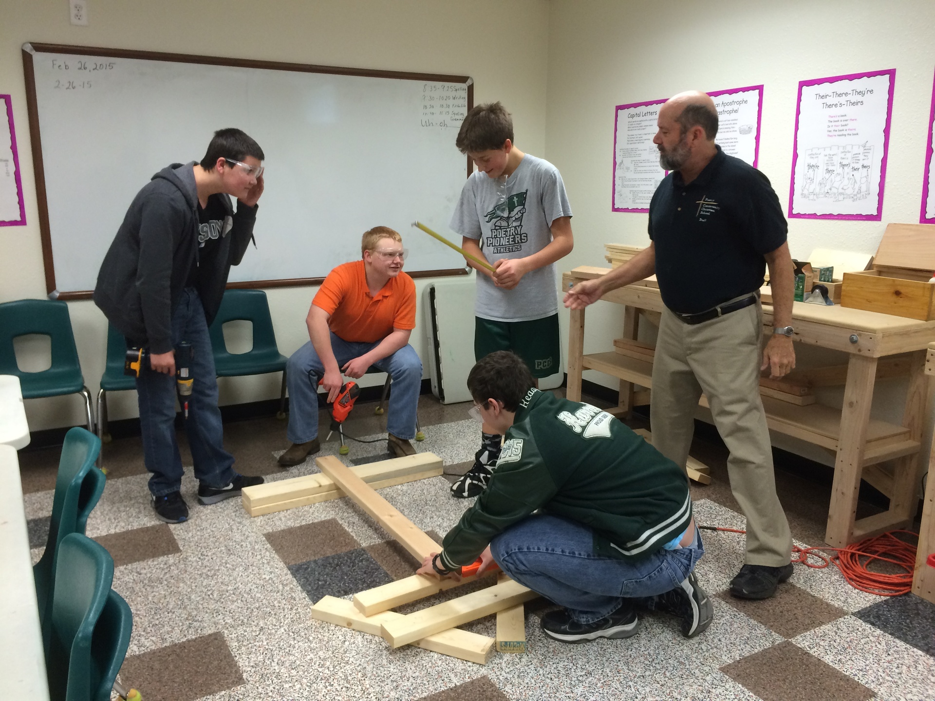 Woodworking - Derby Car Team Elective