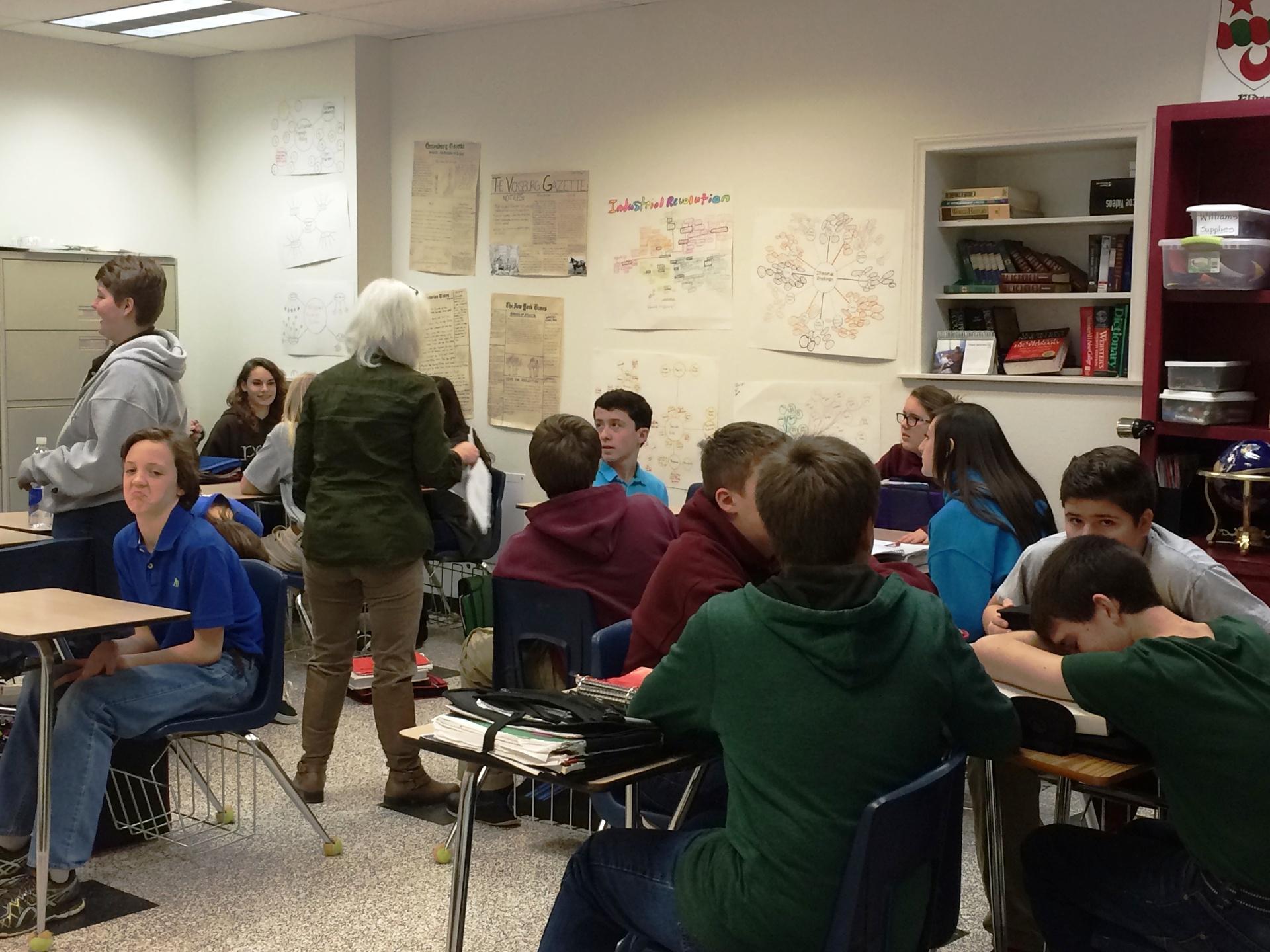 HS U.S. History II class